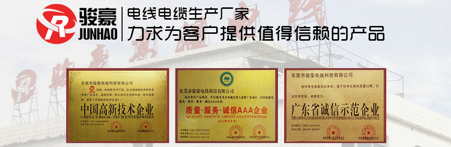 骏豪电线荣誉证书展示