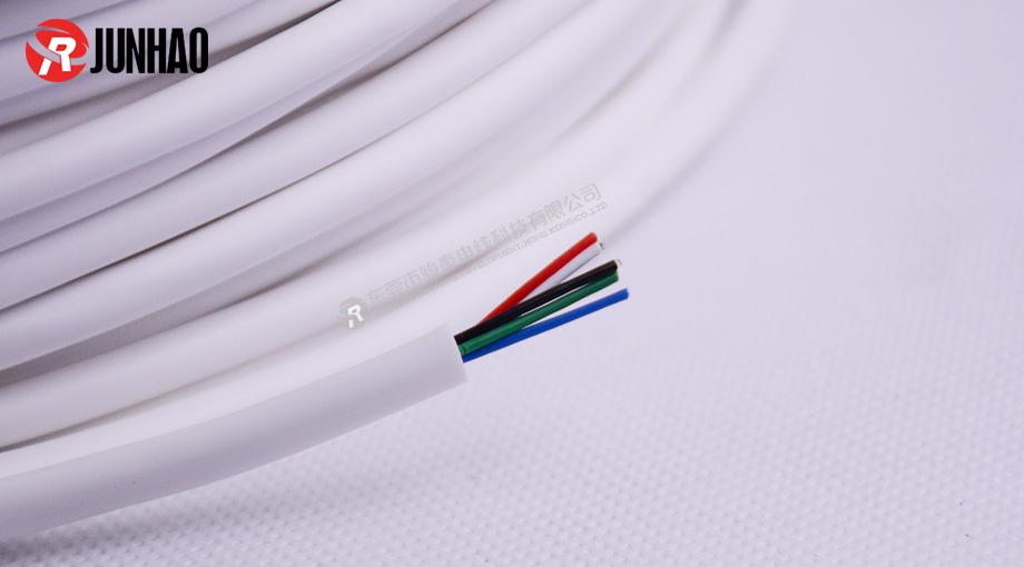 白色五芯硅胶护套线产品图