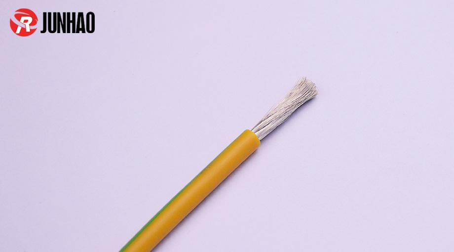 5平方10awg单芯高温硅胶线黄绿色产品图