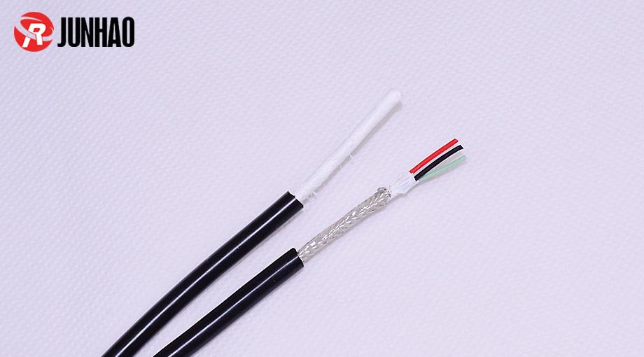 3芯铁氟龙屏蔽线+硅胶护套线产品图